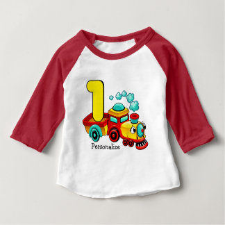 Train 1st Birthday Custom Baby T-Shirt