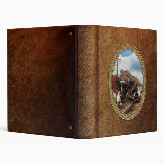 Train - Accident - Butting heads 1922 3 Ring Binder