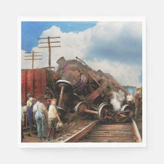 Train - Accident - Butting heads 1922 Disposable Napkin