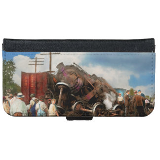 Train - Accident - Butting heads 1922 iPhone 6 Wallet Case