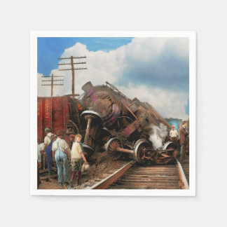 Train - Accident - Butting heads 1922 Paper Napkins