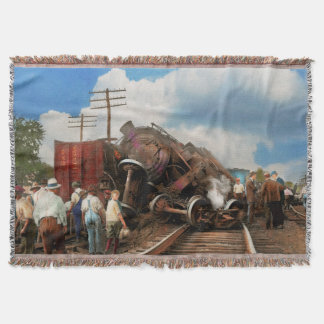 Train - Accident - Butting heads 1922 Throw Blanket