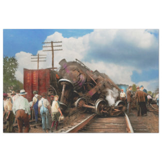 Train - Accident - Butting heads 1922 Tissue Paper