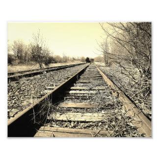 Train A'coming 10x8 Black & White Photographic Pri Photo Print
