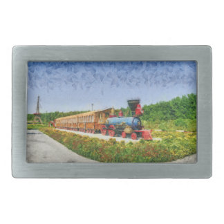 Train and Eiffel tower in Miracle Garden,Dubai Belt Buckles