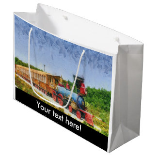 Train and Eiffel tower in Miracle Garden,Dubai Large Gift Bag