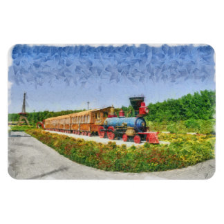 Train and Eiffel tower in Miracle Garden,Dubai Magnet