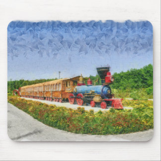 Train and Eiffel tower in Miracle Garden,Dubai Mouse Pad