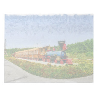 Train and Eiffel tower in Miracle Garden,Dubai Notepad