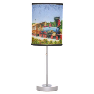 Train and Eiffel tower in Miracle Garden,Dubai Table Lamp