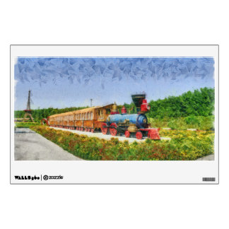Train and Eiffel tower in Miracle Garden,Dubai Wall Sticker