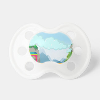 Train and mountain pacifiers