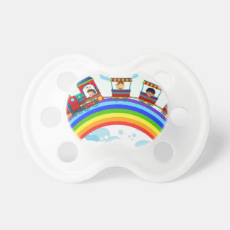 Train and rainbow baby pacifier