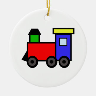 TRAIN APPLIQUE CERAMIC ORNAMENT