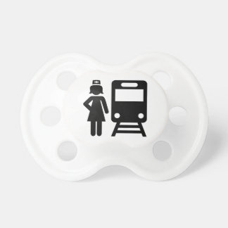 Train attendant pacifier