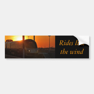 Train au coucher du soleil autocollant de voiture