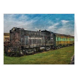 Train - Baldwin Locomotive Works Card