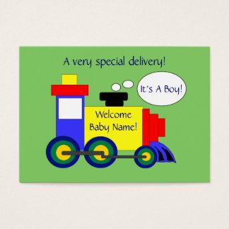 Train Birth Announcement Card