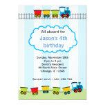 "Train Birthday 5"" X 7"" Invitation Card"
