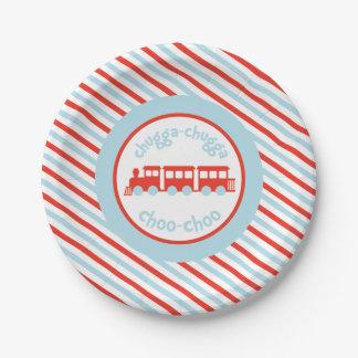 Train Birthday Paper Plates