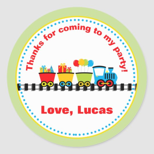Train Birthday Party Favour Stickers