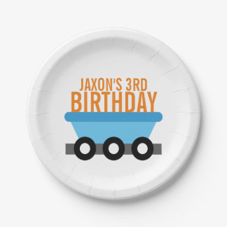 Train Birthday Party Paper Plate