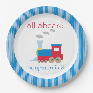Train Birthday Party Plate