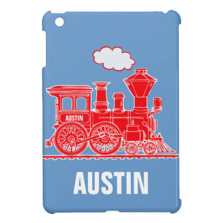 Train boys named red blue ipad mini case