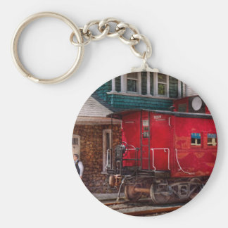 Train - Caboose - End of the line Keychain