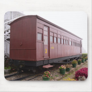 Train Carriage Restaurant Mouse Pad
