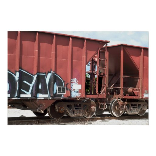 Train Cars Coupled Poster