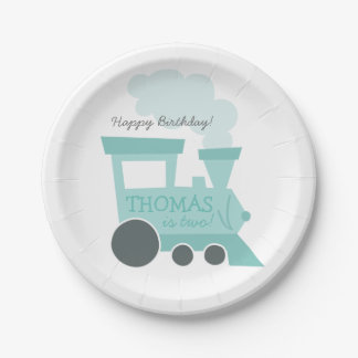Train Cars Paper Plates