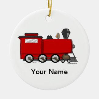 Train Ceramic Ornament
