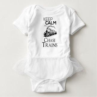 train chase design cute baby bodysuit