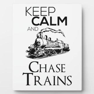 train chase design cute plaque