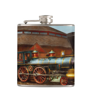 Train - Civil War - General Haupt 1863 Hip Flask