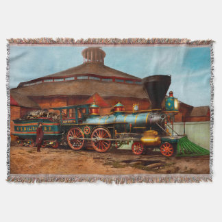 Train - Civil War - General Haupt 1863 Throw Blanket