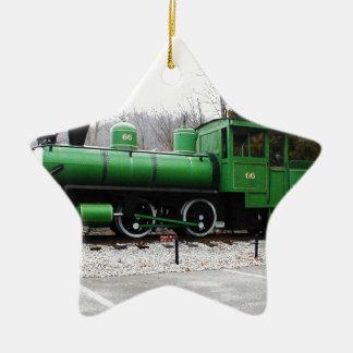 train - Copy.JPG display Natural Tunnel State Park Ceramic Star Ornament