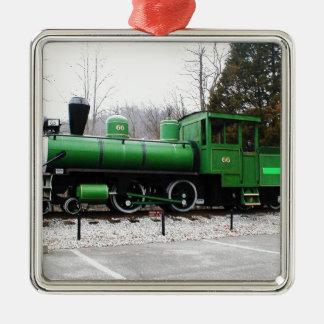 train - Copy.JPG display Natural Tunnel State Park Silver-Colored Square Ornament