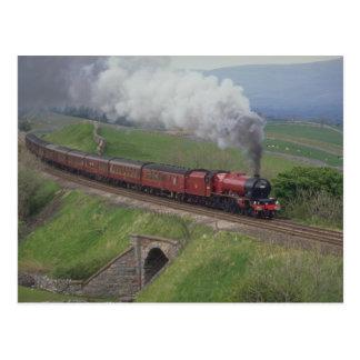 Train de vapeur carte postale