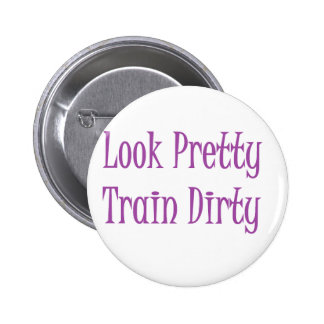 Train dirty- purple 2 inch round button