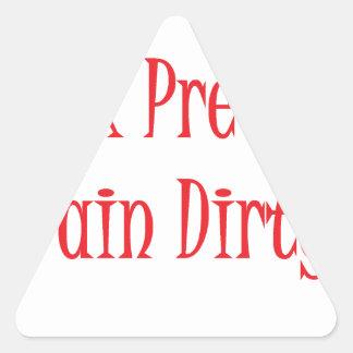 Train dirty- red triangle sticker