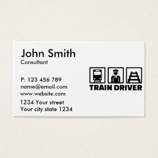 Train driver business card
