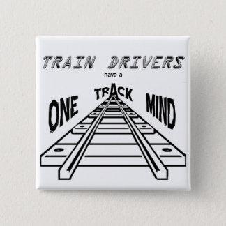 Train Drivers 2 Inch Square Button