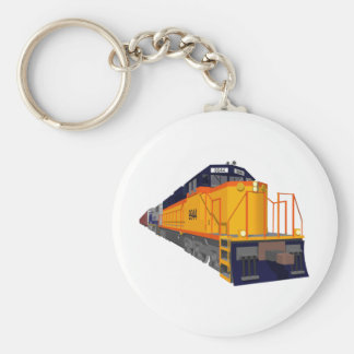 Train Engine: Classic Color Scheme: Basic Round Button Keychain