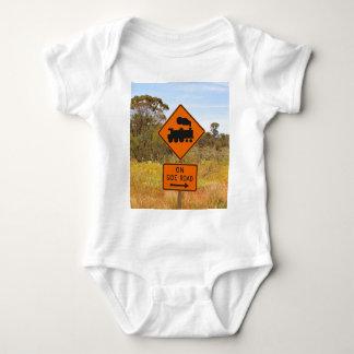 Train engine locomotive sign, Australia Baby Bodysuit