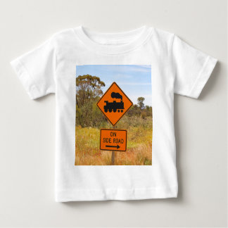 Train engine locomotive sign, Australia Baby T-Shirt