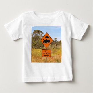 Train engine locomotive sign, Australia Baby T-Shirt