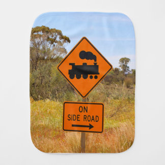 Train engine locomotive sign, Australia Burp Cloth