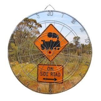 Train engine locomotive sign, Australia Dartboard